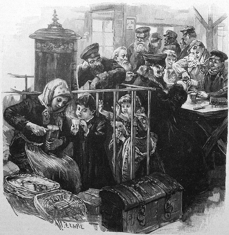 auswandererbahnhof ruhleben   wartesaal zehme 1895 - Ausreisefreiheit